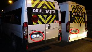 İkiz plakalı minibüsler polisten kaçamadı !
