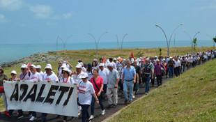 Adalet yürüyüşüne katılmak için yola çıktılar