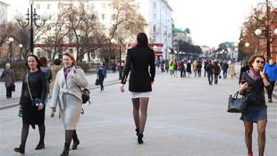Rusya'nın en uzun boylu kadını