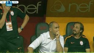Galatasaray yedek kulübesinde tepki çeken görüntü