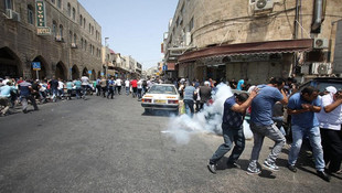 İsrail polisi terör estiriyor ! Çok sayıda yaralı var