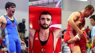 Milli güreşçilerden 3 altın madalya !
