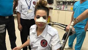 Hastanede dehşet ! Şişeyle burnunu kırdı