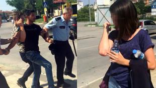 Genç kadın parkta dehşeti yaşadı, vatandaşlar zor kurtardı