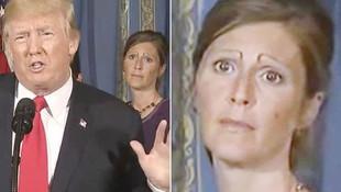 Trump'ın arkasındaki tuhaf kaşlı kadın olay oldu