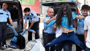 Drif yaparken kaza yapan genç kız çıldırdı !