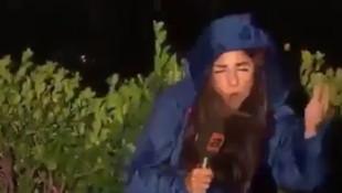 ATV muhabiri dolu yağışında ölümden döndü