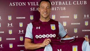 John Terry resmen Aston Villa'da