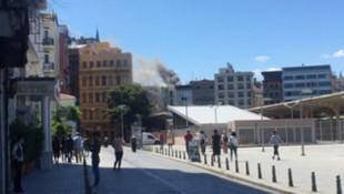 Sirkeci'de yangın paniği