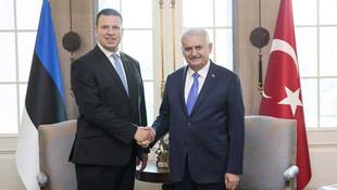 Başbakan, Estonya Başbakanı ile görüştü