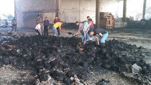 Yangın çıkan fabrikada insan kemikleri bulundu