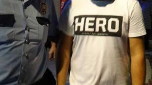 ''Hero'' tişörtüyle yakalanmıştı ! Bakın ne çıktı...