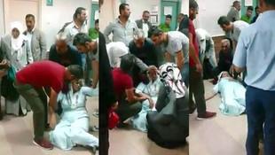 Devlet hastanesinde skandal görüntüler