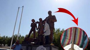 Diyarbakır'da Atatürk heykeline saldırı !