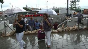 İstanbul'da sıradışı görüntü !