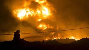 Ankara'da kağıt fabrikasında yangın !