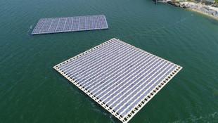 Türkiye'nin ilk yüzer güneş enerji santrali kuruldu