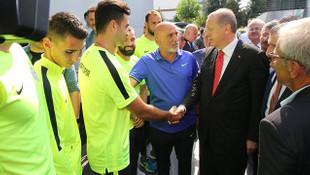 Cumhurbaşkanı Erdoğan'dan Çaykur Rizespor'a ziyaret