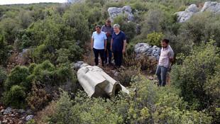 Antalya'da Atatürk heykeli ormanda bulundu