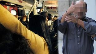 Otobüste iğrenç taciz iddiası