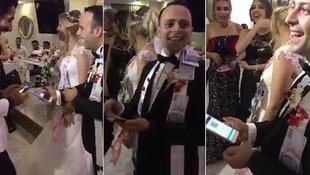 Düğünde bunu da gördük ! Damada telefondan gönderdi