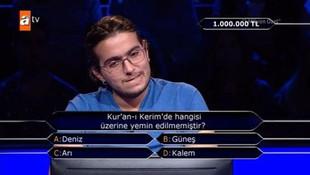İşte Kim Milyoner Olmak İster'de 1 milyonluk soru