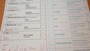 Almanya seçimlerinde Erdoğan'a oy çıktı