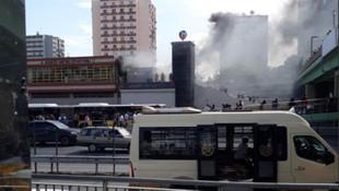 İstabul'da metroda yangın paniği