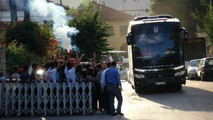 Beşiktaş, yarınki maç için Karabük'e geldi
