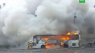 Kazakistan'da dehşet! Yanan otobüste 52 kişi öldü