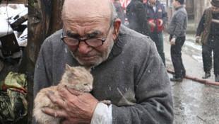 Bolu'da evi yanan yaşlı adam konuştu