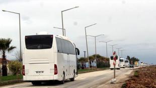 10 otobüs komando bölgeye geldi