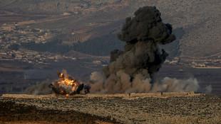 Türk F-16'ları bombalıyor ! ÖSO Afrin'e girmeye başladı