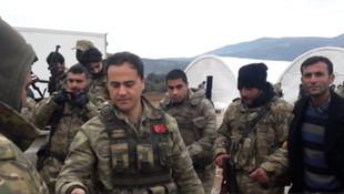 Afrin'e giren Türk askerinden ilk görüntü