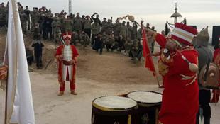 Mehmetçik'i, Afrin'e mehter takımıyla uğurladılar