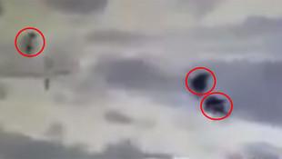 YPG'li teröristlerin vurulma anı kamerada: ''Koçum benim be !''