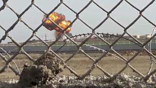 Sınırda mevzi kazan teröristler tank atışıyla vuruldu