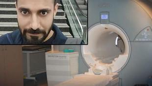 Hastanede MR faciası ! Genç adamı yuttu