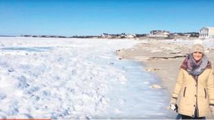 ABD'de okyanus dondu