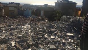 İstanbul Üsküdar'da belediye enkazı