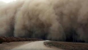 Güneydoğu'da toz fırtınası ! Ürküten görüntüler