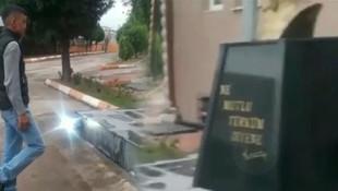 Atatürk büstüne götürüp asker selamı verdirttiler