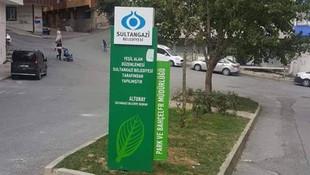 İstanbul'da 4 metrekarelik yeşil alan
