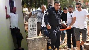 Mezarlıkta intihar girişiminde bulundu