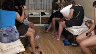 Masaj salonuna fuhuş baskını