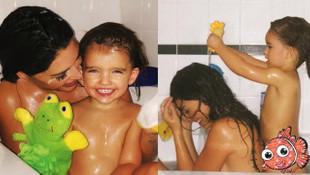 Sneijder'in eşi Yolante'nin banyo pozları sosyal medyayı salladı