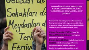 İstanbul'da kadınlar tacize karşı sokağa çıkıyor