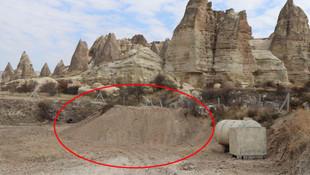 Kapadokya'da tepki çeken olay