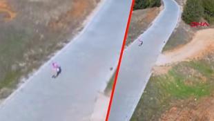 Drone görüp kaçan teyze konuştu