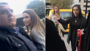 Atatürk Havalimanı'nda olay ! ''Bayanlar olmasa ağzını burnunu kırardım''